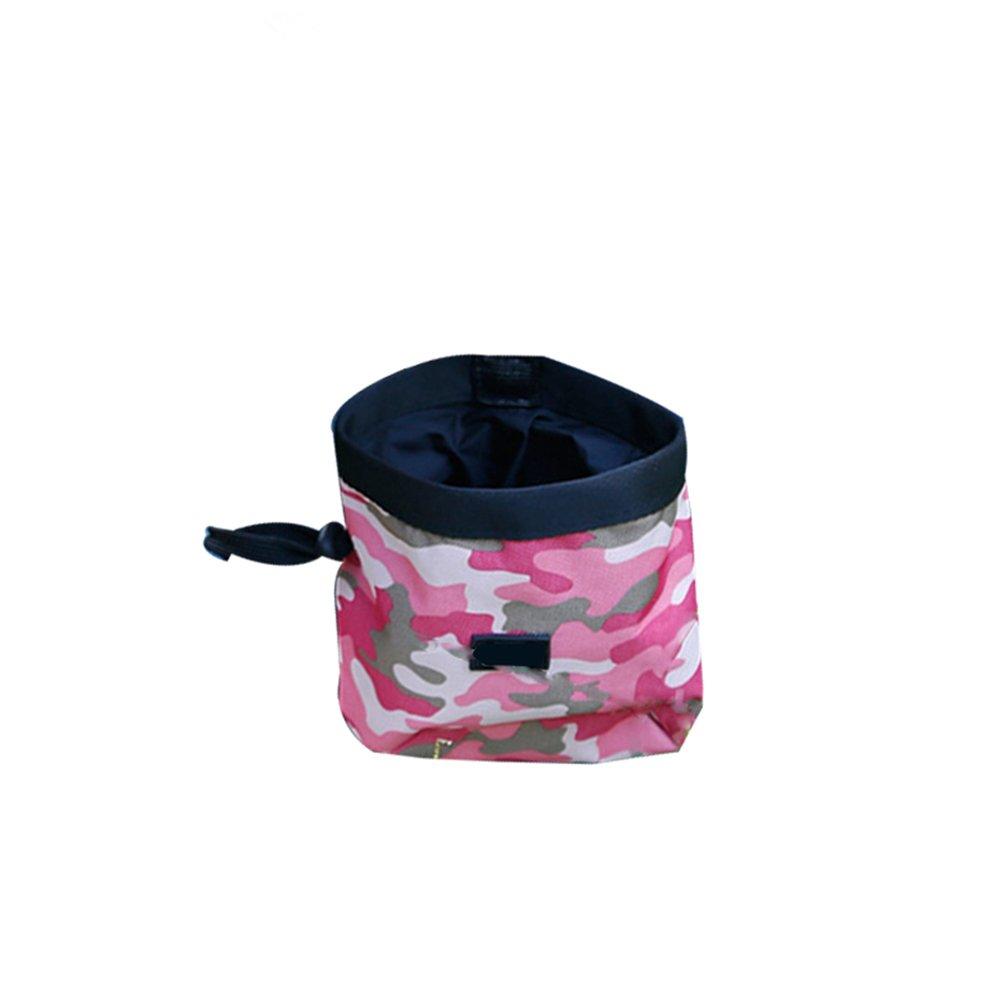 UEETEK Friandises pour Chien Pochette pour formation Sac Porte des jouets pour chien (rose)