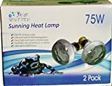 Blue Spotted 4 Sunning Heat Lamps, 75 Watt (2 Value Packs) For Use With Terrariums And Provided A Basking Lamp Reptiles, Amphibians, Small Animals, Birds, And Farm Animals