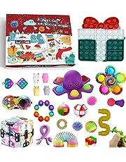 Pop Bubble Fidget Adventskalender Speelgoedset, 24DAGEN Kerst Aftelkalender Sensorische Fidget Pack, Anti-Angst Fidget Box, Verrassingsgeschenken Party Favor (24pcs6, OneSize)