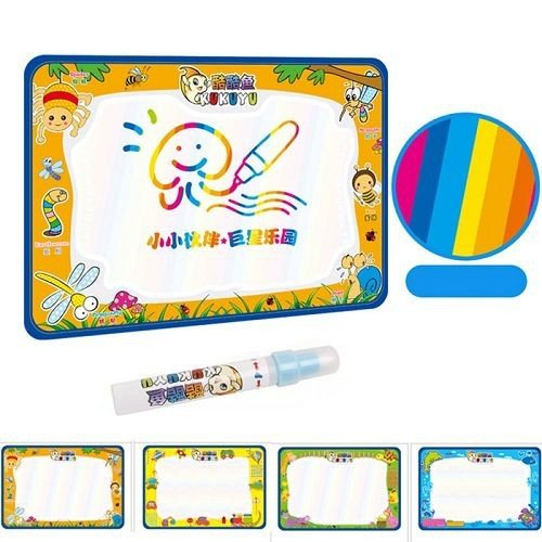 (1pcs)50x34cm Baby Kids Add Water with Magic Pen Doodle Painting Picture Water Drawing Play Mat in Drawing Toys Board