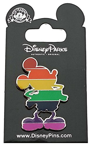- Disney Pin - Mickey Mouse Rainbow Silhouette - Pride Colors