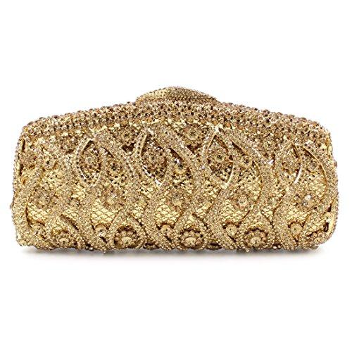UKYI - Cartera de mano para mujer dorado
