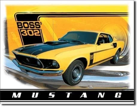 FORD MUSTANG BOSS 302 429 SPORTS MUSCLE PONY BLUE CAR HOT ROD 8 X 10 PHOTO
