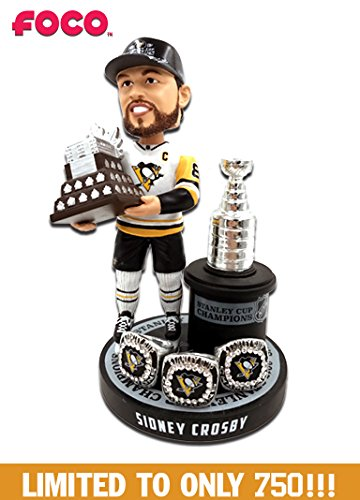 Sidney Crosby (Pittsburgh Penguins) 3X Stanley Cup Champion Ring Base Excl. Bobblehead by FOCO #750 -