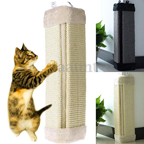 zry 19'' Gray Cat Wall Corner Hanging Scratching Board Mat Kitten Post Toys Pet Supplies