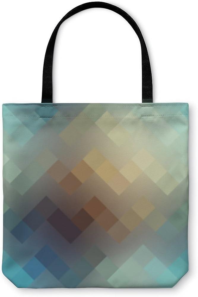 Gear New Shoulder Tote Hand Bag 817491GN D Pixels Chevron Pattern On Blurred
