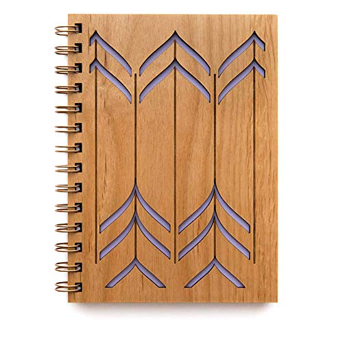 Valleys Laser Cut Wood Journal (Notebook/Birthday Gift/Gratitude Journal/Handmade)