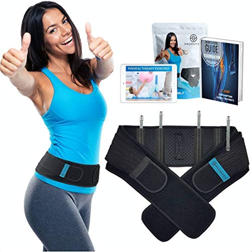 Sacroiliac Support Belt for Men and Women - Pelvic Brace for Lower Back Pain, Sciatica, Piriformis Syndrome, and Maternity Support - Stabilizes The SI Joint and Promotes Faster Recovery