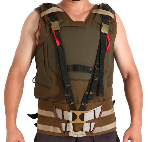 City Bane Costume Arkham (Halloween Men's Bane Cosplay Tactical Style Vest Costume)