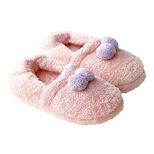 Bestfur Nydelig Korall Fleece Myke Varme Komfortable Hjem Tøfler Til Kvinner Rosa