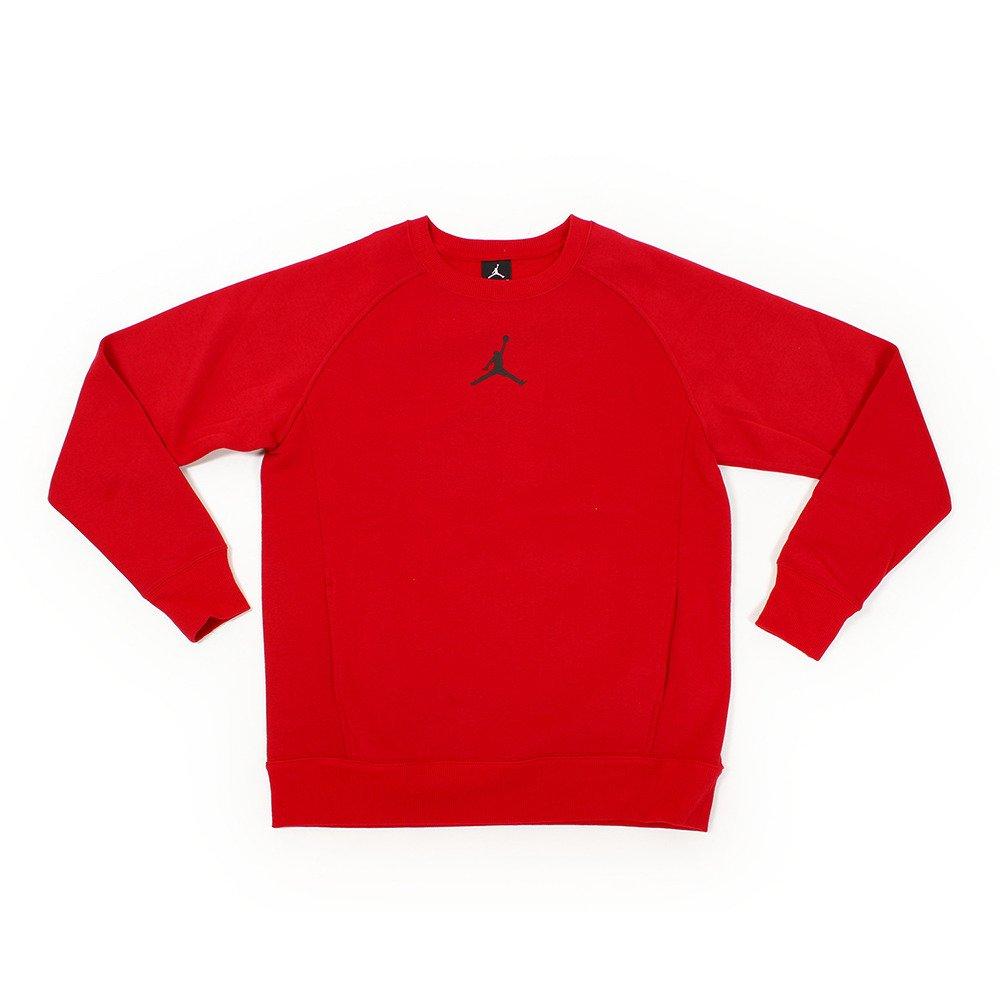 Nike Air Jordan Boys' Crew Neck Fleece Sweater (Gym Red, Large)