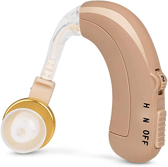 Sengdong Hearing Amplifier Behind The Ear for Elders,Rechargeable and Clear Voice,1 Pack
