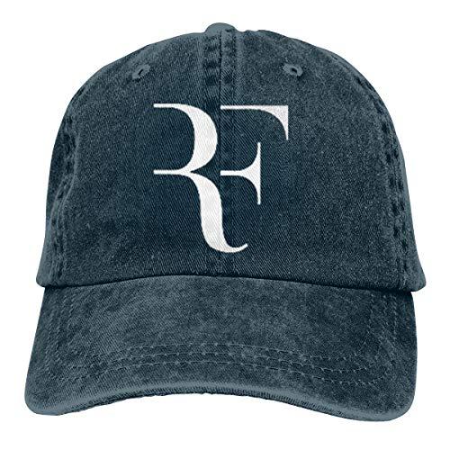Warshland Mens Womens Adjustable Baseball Caps Roger Federer Washed Dyed Cowboy Golf Hat Navy