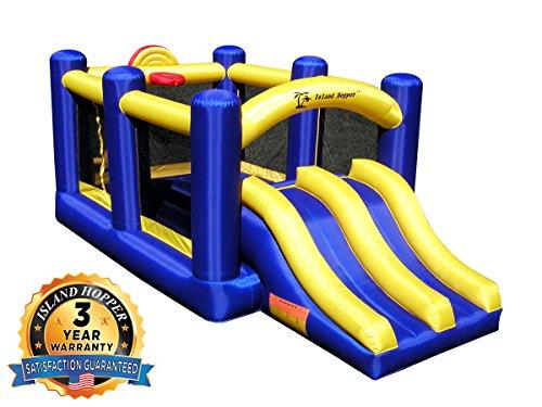 Island Hopper Racing Slide and Slam Recreational Bounce House - Commercial Grade Bounce House