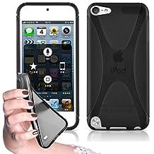 Cadorabo – Silicone Case X-LINE SLIM-FLEX for Apple iPod Touch 5 – Etui Cover Protection Bumper Skin in OXIDE-BLACK