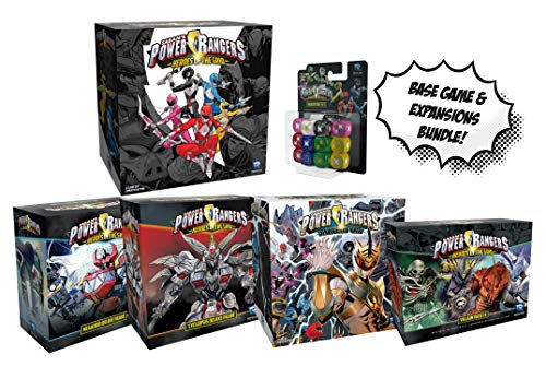 Power Rangers: Heroes of The Grid Board Game and All Expansions and Dice Set! Power Rangers Bundle! (Power Ranger Xbox Games)