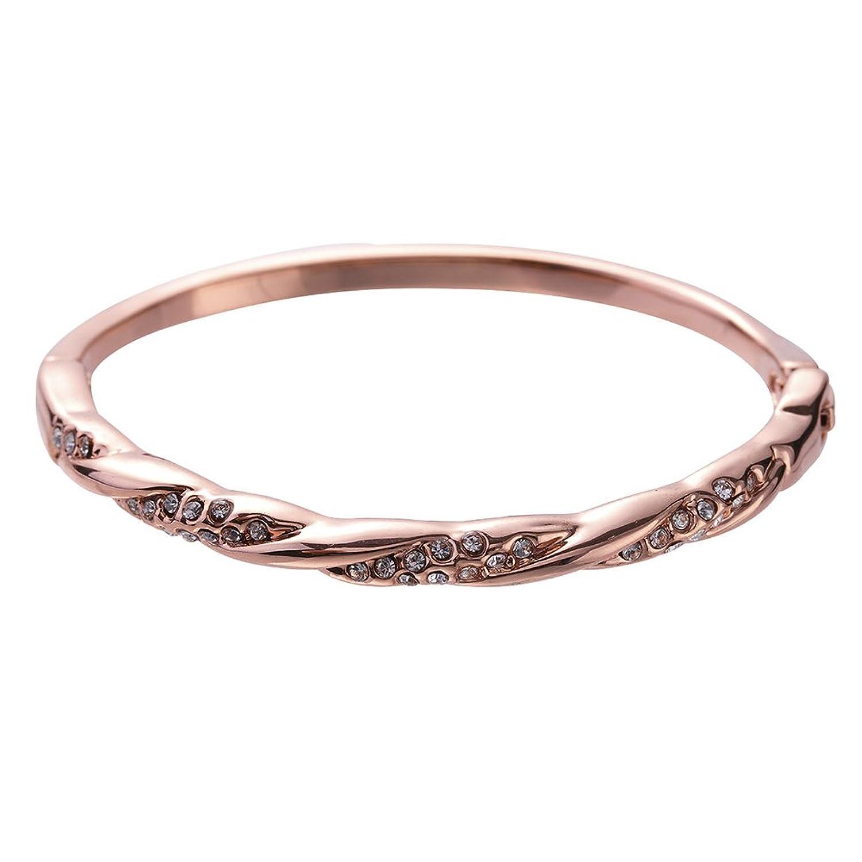 b638a832673f Bikitique - Pulsera de estrella de oro rosa con cristales austriacos  auténticos y la mejor venta