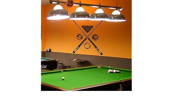 Adhesivo decorativo para pared para salón de billar, diseño con ...