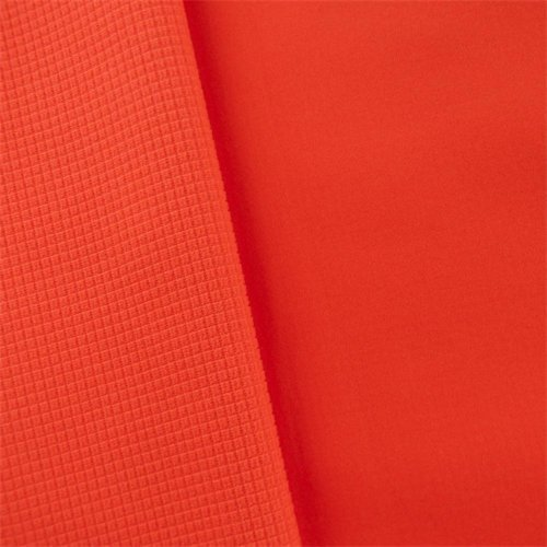 Orange Waterproof Stretch Soft Shell Grid Fleece, Fabric by The - Grid Fashion
