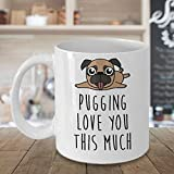 Best Lover Couples With Twin Sides - I Pugging Love You This Much Mug, Pug Review