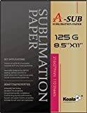 A-SUB Sublimation Paper 8.5'' x 11'' For EPSON ME Series,RICOH GX Series And SAWGRASS Printers,110 Sheets Letter Size