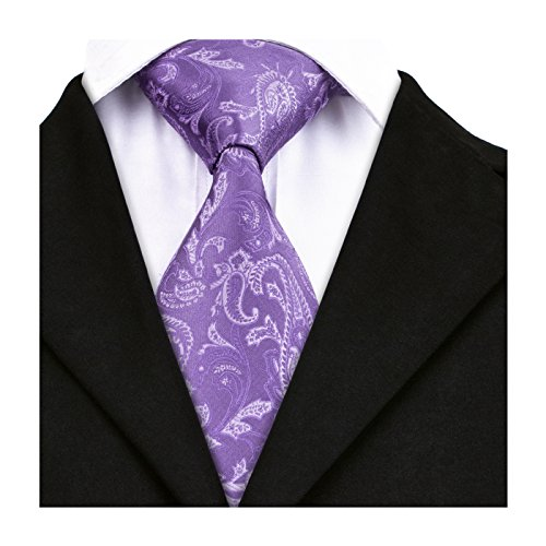 Neckties Men Floral Wang Ties Tie Paisley Necktie Violet Party Wedding Business Solid Barry wZAqgCC