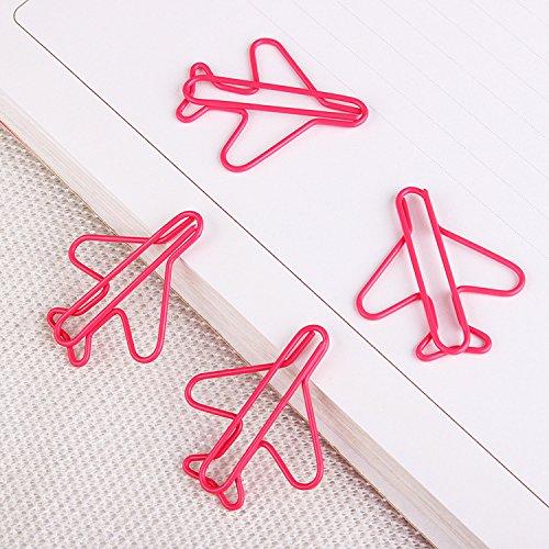 HSDDA 8 Teile/satz Cartoon Flugzeug Lesezeichen Seite Marker Büroklammer Schreibwaren Lernen Liefert (Rosa)