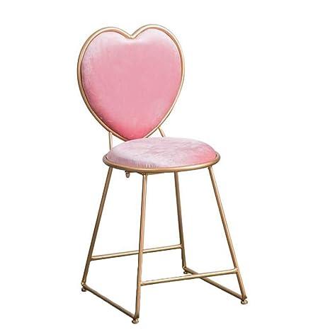 Amazon.com: YE ZI Silla - Home Vintage hierro forjado rosa ...