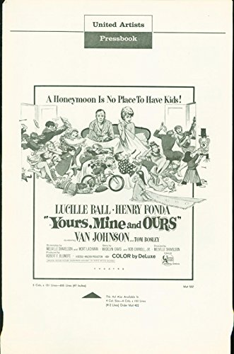 Yours, Mine and Ours (1968) Lucille Ball, Henry Fonda, Van Johnson pressbook