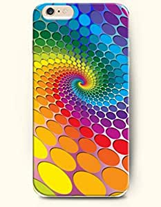 Apple iPhone 6 Case ( 4.7 inches) with Design of Colorful Dots Swirl - Rainbow Color Series -OOFIT Authentic iPhone Skin