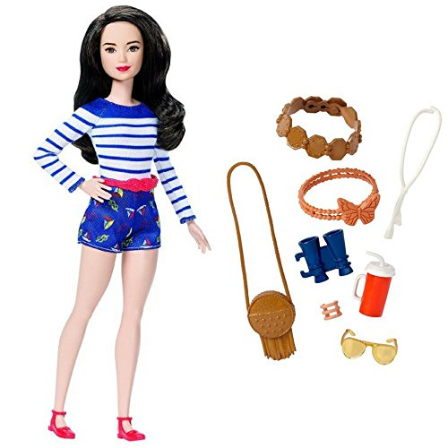 Barbie Nice in Nautical, Petite Fashion Doll, Fashionista #61, and Barbie Fashions Sightseeing Accessory Pack Great Gift for Girl for Birthdays and Holidays