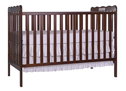Furniture World Chelsea Crib with Toddler Gate, Espresso