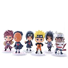 Japanese Anime Naruto Figures Collection Figurines 6Pc Set , Kakashi Uzumaki Naruto Sasuke