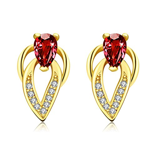 Waterford Collins Glass (Fashion Stainless Steel Gold Plated Water Drop Crystal Stud Earrings Women-Guillermo B.Randle)