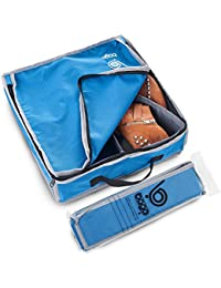 Shoes Bag for Travel - Hanging Packing Cubes for Women Man Kids Storage. Modular Pouch for 1 or 2 sets of Shoes (Blue)