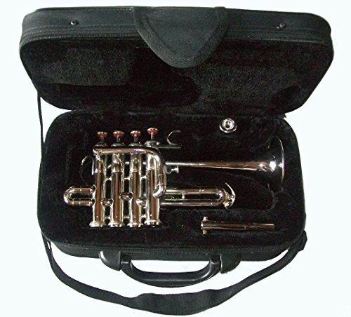Global Art World Classic Student-Grade Piccolo Trumpet Ultra Economy Bb Pitch and Mouthpiece MI 068