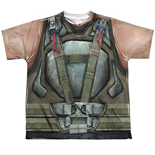 [Batman Dark Knight Rises Movie Bane Costume Big Boys 2-Sided Print T-Shirt Tee] (60s Costume Ideas For Boys)