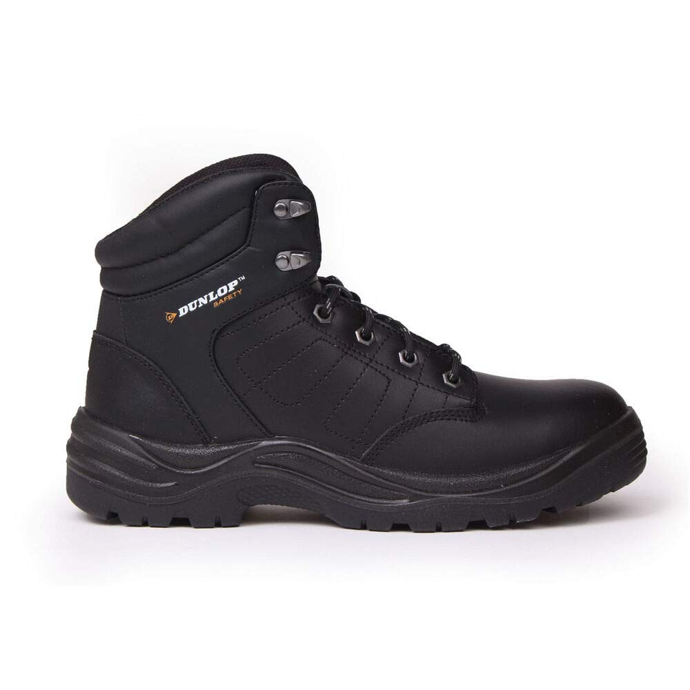 Dunlop Men's Dakota Steel Toe Work Boots Black 6.5
