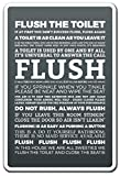 Flush The Toilet Novelty Sign | Indoor/Outdoor | Funny Home Décor for Garages, Living Rooms, Bedroom, Offices | SignMission Clean Toilet Restroom Warning Bathroom Funny Gift Sign Decoration
