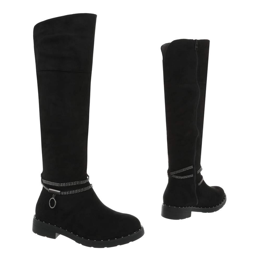 Damen Schuhe Stiefel Blockabsatz Flache Stiefel Langschaft Langschaft Langschaft EUR 36-EUR 41 75f3b8