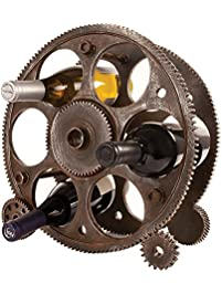 gears and wheels wine rack by foster and rye - Wine Racks For Sale