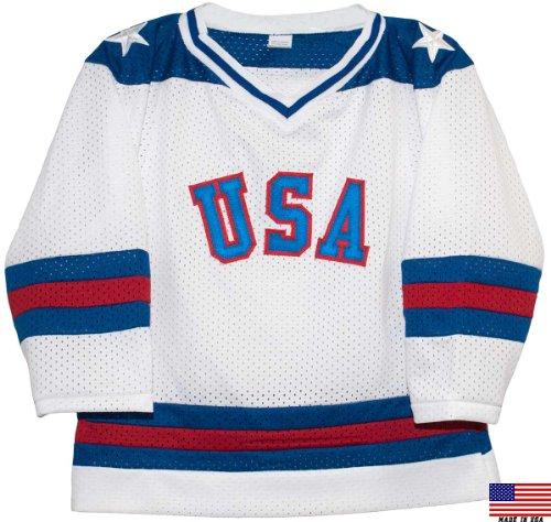 1980 USA Olympic Miracle on Ice Hockey Jersey (Child Sizes) (white, 4/5)