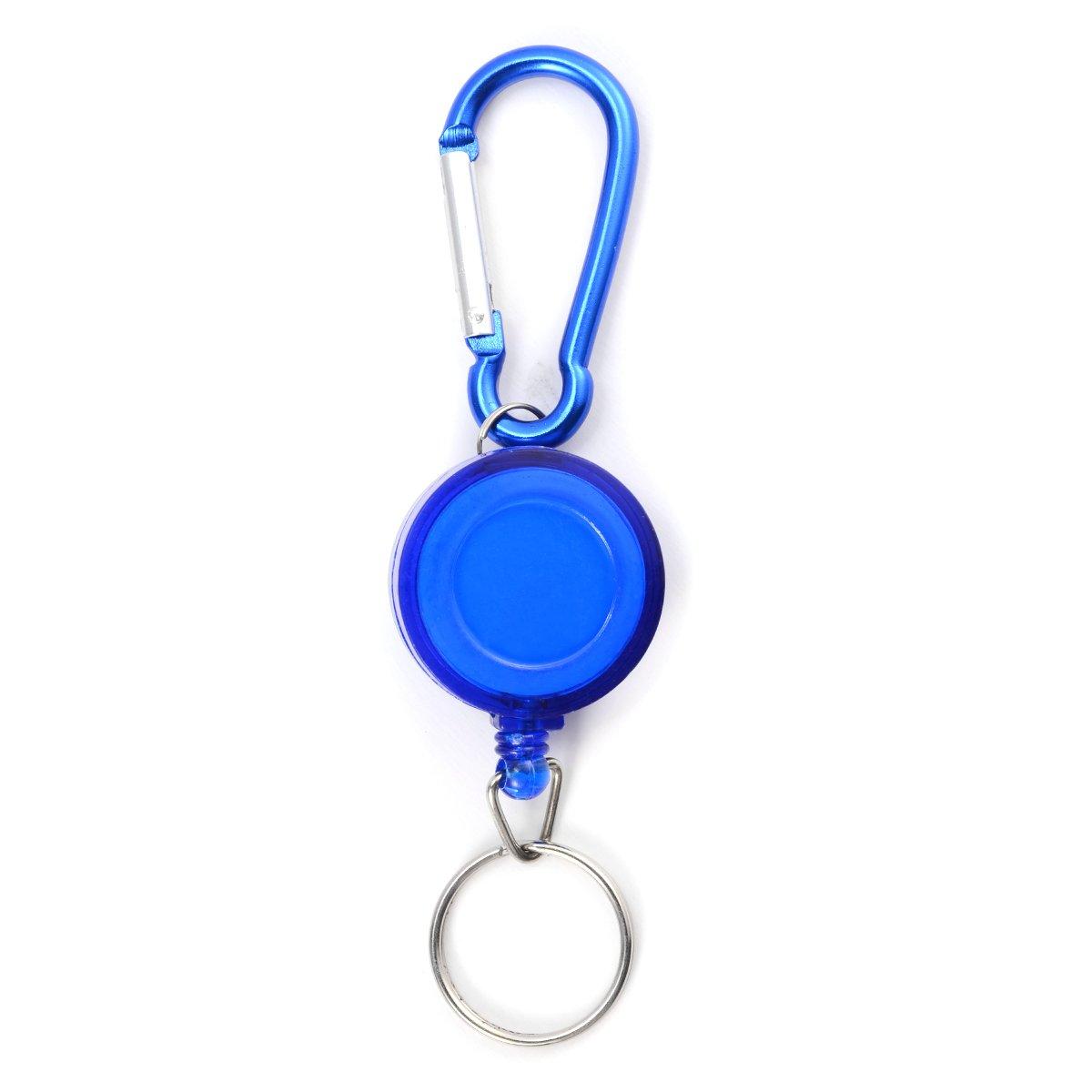 Portatessera RSDM Systems chiave auto per skipass JoJo moschettone da sci PAS Yoyo ID pass lilla/rosso/blu/nero Schwarz nero Surepromise
