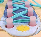 Babies Kids Dollar Shoes Best Deals - Montessori Teaching Aids Wooden Puzzles Board Lacing Shoelace Kids Children Learn Tie Shoe Lace Toy