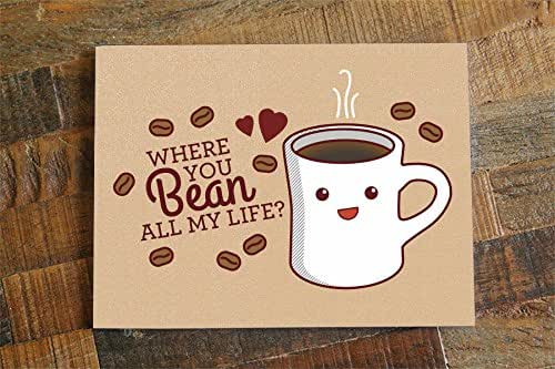 Amazon.com: Coffee Love Card - Where You Bean All My Life ...