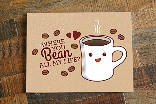 Amazon Coffee Love Card Where You Bean All My Life Funny
