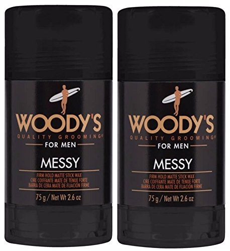 (Woodys Messy Firm Hold Matte Stick Wax - 2.6oz (Set of 2) )