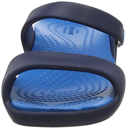 Crocs 204268, Sandalias Planas Mujer Blu (Navy/Ultramarine)