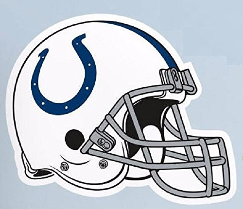 """Indianapolis Colts FATHEAD Team Helmet Logo Official NFL Vinyl Wall Graphic 25""""x21"""" INCH"""