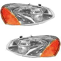 Headlights Headlamps Left & Right Pair Set for Chrysler...